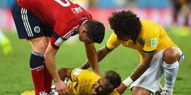neymar fratura 2014